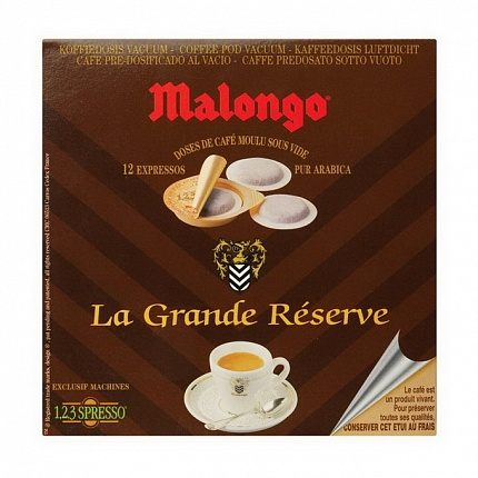 Кофе в чалдах Malongo Grand Reserve, 12 шт